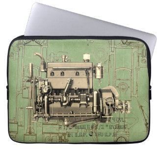 Wisconsin Motor Milwaukee Wisconsin gas engine B-3 Laptop Sleeve