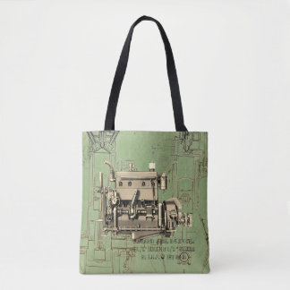 Wisconsin Motor Milwaukee Wisconsin gas engine B-3 Tote Bag