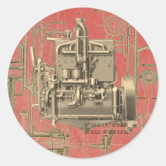 Wisconsin Motor Milwaukee Wisconsin gas engine  K Classic Round Sticker