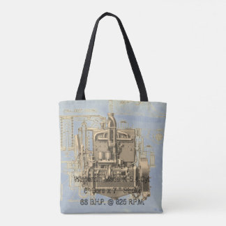 Wisconsin Motor Milwaukee Wisconsin gas engine  K Tote Bag