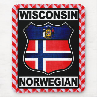 Wisconsin Norwegian American Mousemat Mouse Pad