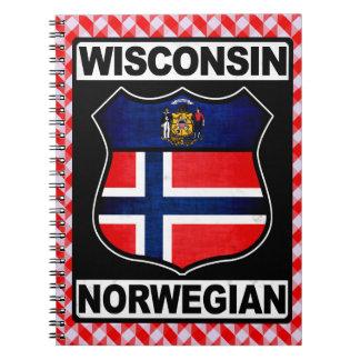 Wisconsin Norwegian American Notepad Spiral Notebook