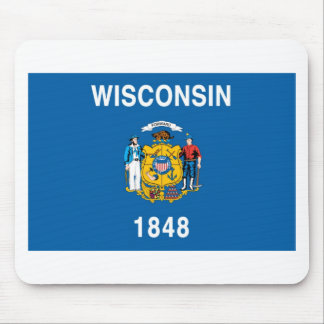 Wisconsin  Official State Flag Mouse Pad