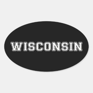 Wisconsin Oval Sticker