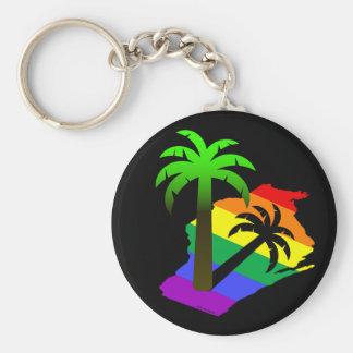 Wisconsin Palm Tree Basic Round Button Keychain