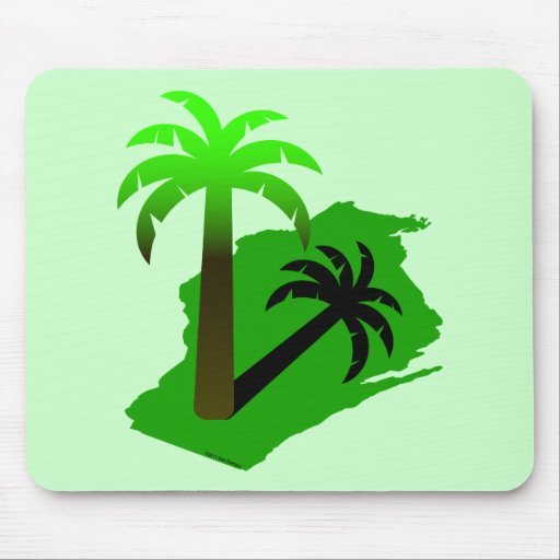 Wisconsin Palm Tree Mousepads