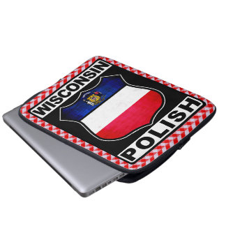 Wisconsin Polish American Laptop Cover