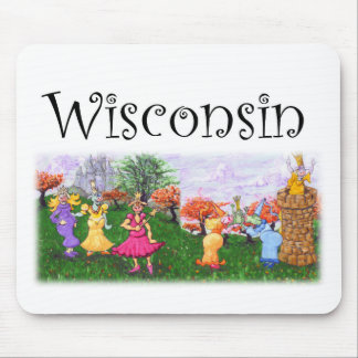 Wisconsin Princess Cows Mouse Pad