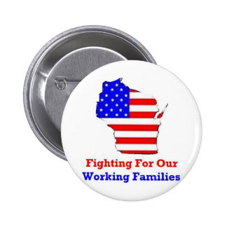 Wisconsin Protests Shirts 2 Inch Round Button