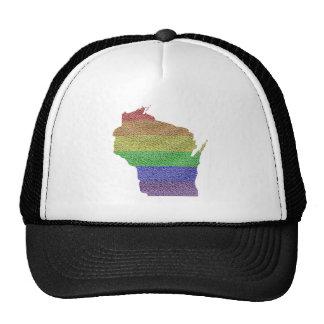 Wisconsin Rainbow Pride Flag Mosaic Trucker Hat