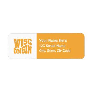 Wisconsin Return Address Label