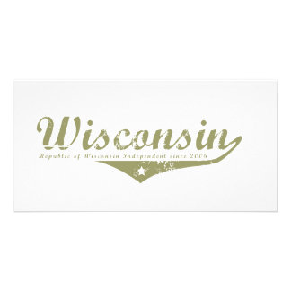 Wisconsin Revolution T-shirts Customized Photo Card