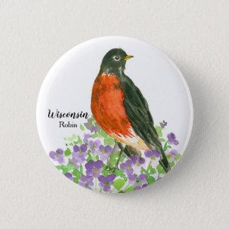 Wisconsin Robin State Bird 2 Inch Round Button