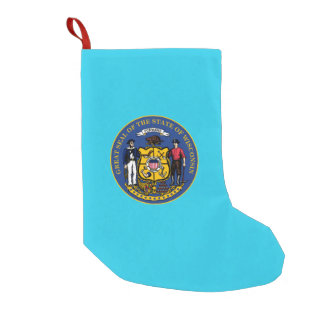 Wisconsin seal, American state seal Small Christmas Stocking