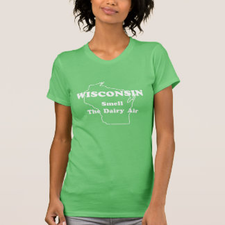 Wisconsin Smell The Dairy Air Ringer T-Shirt
