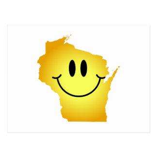 Wisconsin Smiley Face Postcard