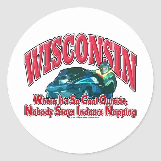 Wisconsin Snowmobile Classic Round Sticker
