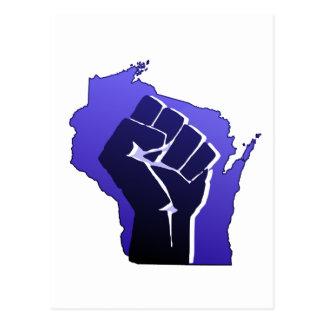Wisconsin Solidarity Fist Postcard