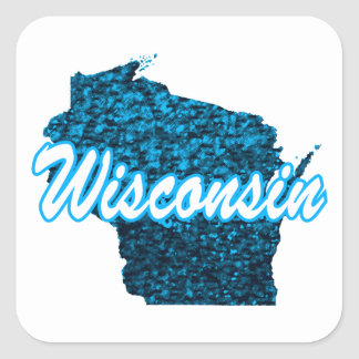Wisconsin Square Sticker