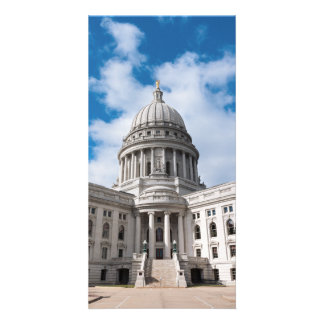 Wisconsin State Capitol Building and Entrance Photo Greeting Card