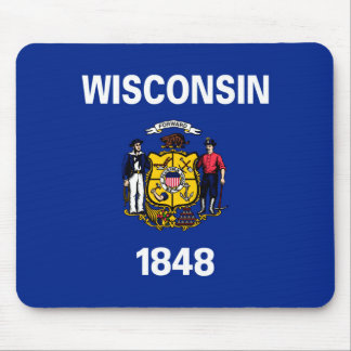 Wisconsin State Flag Design Mouse Pad