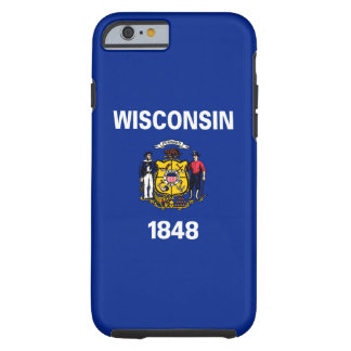 Wisconsin State Flag Design Tough iPhone 6 Case