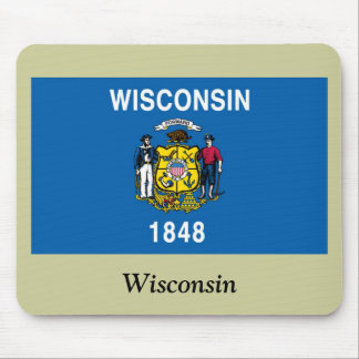 Wisconsin State Flag Mouse Pads