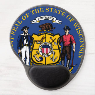 Wisconsin state flag seal united america country r gel mouse pad