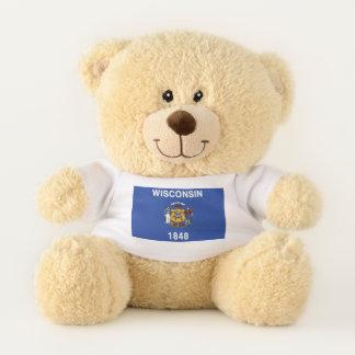 Wisconsin State Flag Teddy Bear