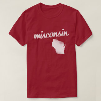 Wisconsin state in white T-Shirt