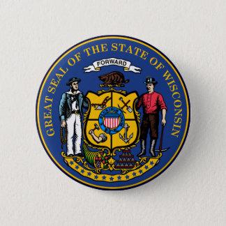 Wisconsin State Seal 2 Inch Round Button