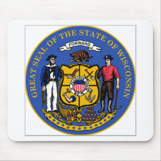 Wisconsin State Seal Mouse Pad