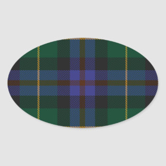 Wisconsin_state_tartan Oval Sticker