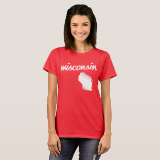 Wisconsin State - White T-Shirt