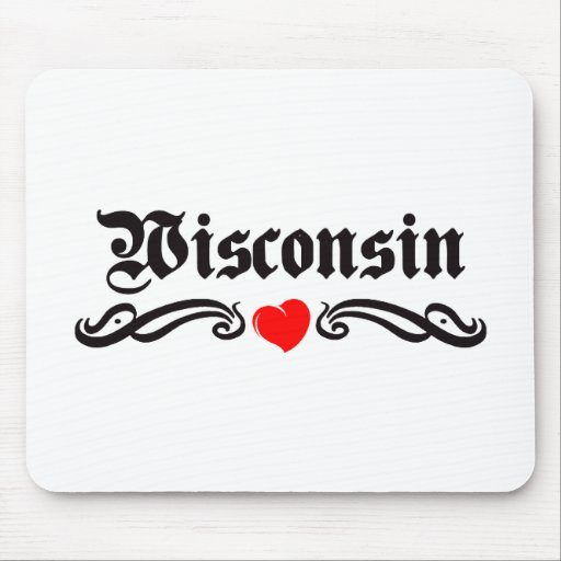 Wisconsin Tattoo Mouse Pad