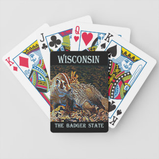 Wisconsin The Badger State Bicycle Playing Cards