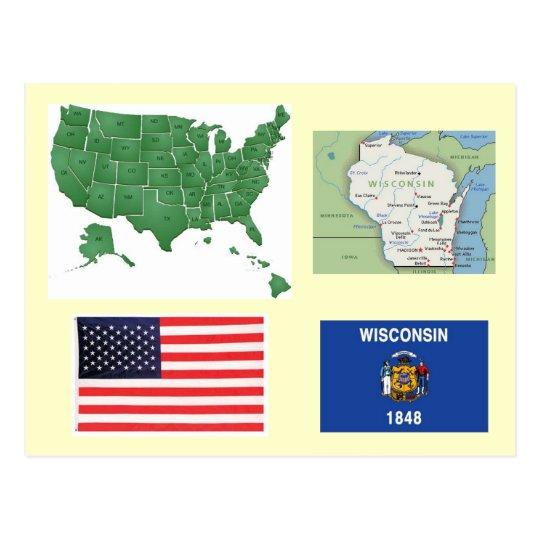 Wisconsin, USA Postcard