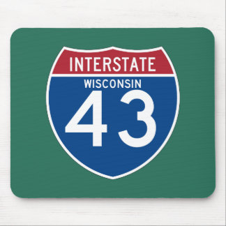 Wisconsin WI I-43 Interstate Highway Shield - Mouse Pad