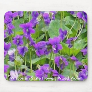 Wisconsin Wood Violets Mouse Pad
