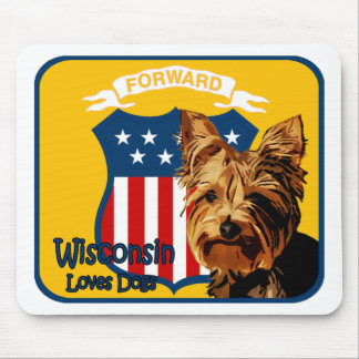 Wisconsin Yorkie Mouse Pad