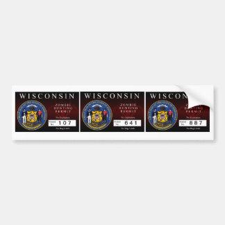Wisconsin Zombie Hunting Permit Bumper Sticker
