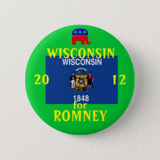 Wisconsinfor Romeey 2012 2 Inch Round Button