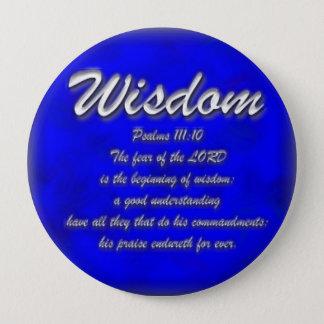 Wisdom 4 Inch Round Button