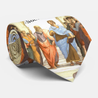 Wisdom begins in Wonder - School of Athens Tie