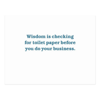Wisdom (blue toilet bowl) postcard
