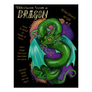 Wisdom from a Dragon Poster Print