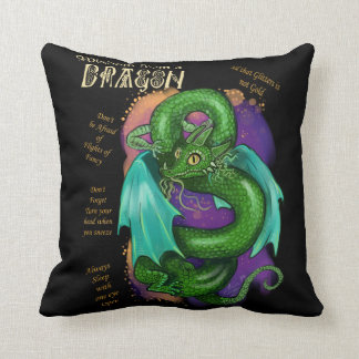 Wisdom From a Dragon Throw Pillow