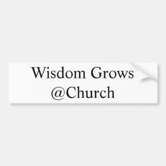 Wisdom Grows @Church Bumper Sticker