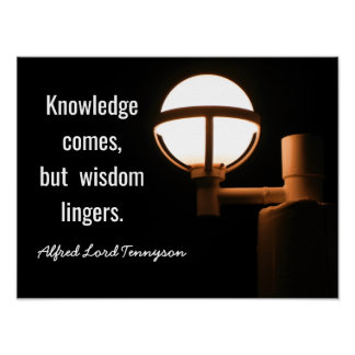 Wisdom Lingers -- Tennyson Quote - Art Print