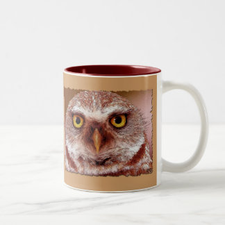 WISDOM OWL Two-Tone COFFEE MUG